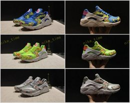 Wholesale I Shoes Boots - Air Huarache Ultra Breathe 1 I Women Runnning shoes Cheap Green Womens Huaraches Sport Shoes Camouflage Trainers Athletics Sneakers 36-40