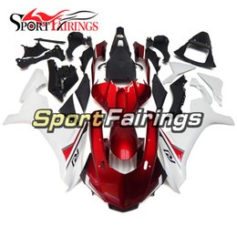 Wholesale Yamaha R1 White Body Kit - Complete Fairings For Yamaha YZF 1000 YZF R1 15 Year YZF-R1 2015 Injection ABS Motorcycle Fairing Kit Cowlings White Red Body Kit Fittings