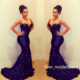 Wholesale Nude Hottest Strapless - 2017 Sexy Arabic Evening Dresses Summer Sequins Strapless Mermaid Sleeveless Sweep Train Sheath Natural Waist Hot Sale New Arrival