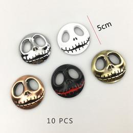 Wholesale Personalized Jack - Best Match 1pcs 10pcs 2017 New Pumpkin King Jack Skellington Skull Boot Metal 3D Auto Badge Emblem Sticker trunk emblem Car-Styling