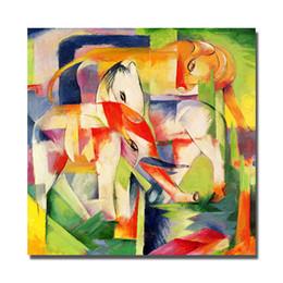 pintura da mão da arte famosa Desconto Famosa Pintura Decorativa para Sala de estar Pintado À Mão Pintura A Óleo Da Lona Abstrata Animal Art Wall Decor Sem Moldura