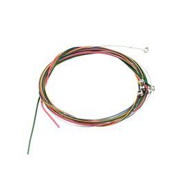 Canada 6pcs multi couleur 1-6 E B G D A E Rainbow Coloré Jeu de cordes pour guitare acoustique vente chaude! Offre
