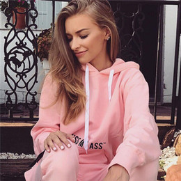 Wholesale Volleyball Ribbon - Pink And Black Active Women's Tracksuits Letter Print Hooded Sweatshirt+Drawstring Leggings Casual Belt Two Piece Sets Novelty 2 Piece Pants