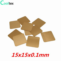 Wholesale Laptop Heat Pads - Wholesale- 20pcs lot 15x15x0.1mm DIY Copper Shim Heatsink Heat Sink Sheet Thermal Pad For Laptop GPU CPU VGA Chip RAM
