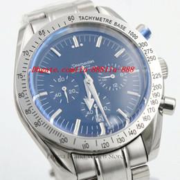 Wholesale Gents Bracelets - Luxury Watches Design High Quality Men's Quartz Chronograph Wrist Watch Gents Full Feature Stainless Steel Bracelet Clock