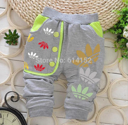 Wholesale harem girls - baby pants kids spring Autumn girl boy cotton newborn trousers Babies pants brand new cotton children baby clothing