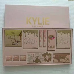 Wholesale Color Bug Set - In stock!!Kylie makeup Set take me on vacation send me more nudes,ultra glow, the wet set,june bug,shinny DHL shipping