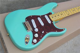 Wholesale China Guitar Free Shipping - China guitar factory wholesale Maple fingerboard gold hardware light blue ST electric guitar free shipping 1 2