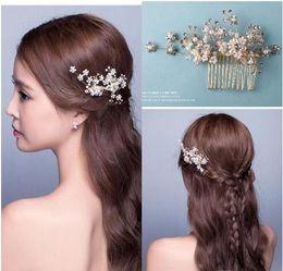 Wholesale Handmade Beaded Headbands - New Arrival Bridal Accessories In Stock Crystal Handmade Rhinestones Beaded Wedding Hair Accessory Crystals Bridal Hair Decorations