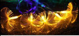 Wholesale White Fiber Optic Tree - 2.5m 10LED Fiber Optic Battery String Morning Glory Night Light Lamp Mni Fairy Lights Christmas Xmas Decor strings
