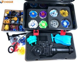 Wholesale Spare Part Mini - beyblade set spinning Top Metal Fight(more that 20 spare parts + 8 beyblades +1grip+3launchers + beyblade box )