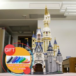 Wholesale Princess Building Blocks - New bricks 16008 Cinderella Princess Castle City 4080pcs Model Building Mini blocks Kid Gift Compatible 71040 Toys lepin
