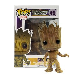 Wholesale Action Collection - Funko Pop Groot Tree man Guardians of the Galaxy Anime Movie Collection Action Figure Model PVC Kids Toys