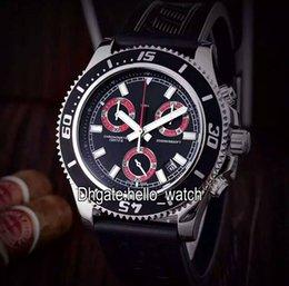 Wholesale Superocean Strap - Super Clone Luxry Brand Superocean Chronograph M2000 A73310A8 BB72 A73310A8 Black Dial Quartz Mens Watch Rubber Strap Sport Gents Watches
