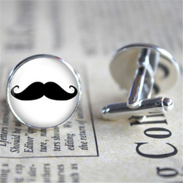 Wholesale Groom Cuff Links - 10pairs lot Mustache Cufflinks, Mustache Cuff , Groomsmen Cufflinks, Father of the Groom Cufflink, Groom Cufflinks