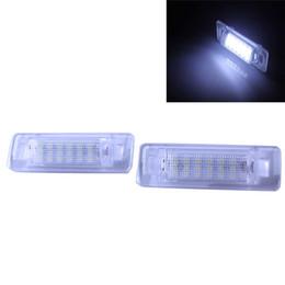 Wholesale Powered Mercedes - 2x High Power Error Free 18 SMD 3528 SMD LED License Plate Light Lamp For Mercedes Benz W210 4D Sedan W202 4D Sedan Facelif