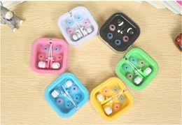 ecouteurs apple boite cristal Promotion 3.5MM In-Ear Écouteurs Écouteurs Écouteurs Universal Candy Couleur Écouteurs Avec Crystal Box pour Iphone 5 6 Samsung S5 S6