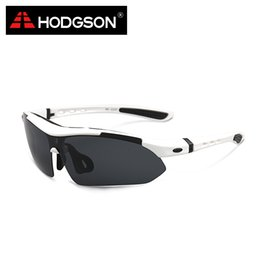 Wholesale Detachable Sunglasses - Wholesale- HODGSON 1012 2015 Detachable Cycling Sunglasses Set Brand Design Men's Outdoor Polarized Bicycle Glasses Sports Eyewear