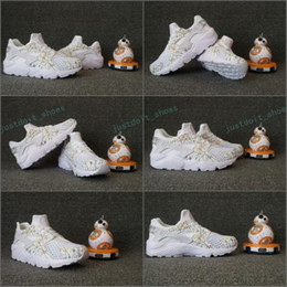 Wholesale Draw Shoes - 2017 Air Huarache Customise Ultra Running Shoes For Men Women Leather Mens Huaraches White Drawing Huraches Sports Trainers Sneakers 36-45
