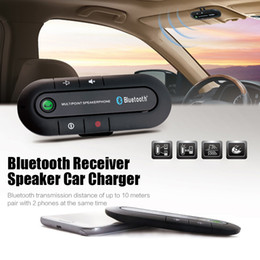 Wholesale Car Wireless Speaker - Sun Visor Bluetooth Speakerphone MP3 Music Player Wireless Bluetooth Transmitter Handsfree Car Kit Bluetooth Receiver Speaker Car Charger