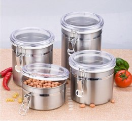 Wholesale Peanut Light - High quality stainless steel storage tank multi-function storage cans stainless steel Sealed jar milk tea peanuts snack can