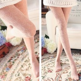 Wholesale Pantyhose Japanese - Wholesale- 2016 Hot Fashion Sexy Stockings Japanese Style Lace Pantyhose Hollow Tights Fishnet Stockings High Elastic Pantyhose for Woman