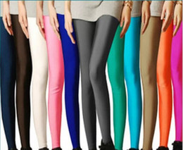 Wholesale Best Selling Leggings - Wholesale- Plus Size Candy Color Women's High Stretched Autumn winter Best Selling Neon Leggings