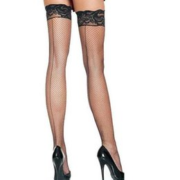Wholesale Socks Seam - Wholesale-H2019 Black sexy stockings beautiful lace back seam women stockings wholesale and retail ohyeah brand new fishnet stocking