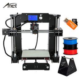 Wholesale filament extruder - Anet A8 A6 3D Printer High Precision Impresora 3D LCD Screen Aluminum Hotbed Extruder Printers DIY Kit PLA Filament 8G SD Card