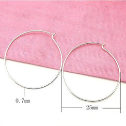 Wholesale Diy Hoops - Free Shipping 20pcs lot 925 Sterling Silver Hoop Huggie Earrings For DIY Craft Jewelry Findings Components WP126