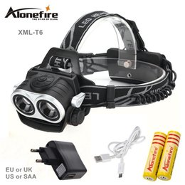 Wholesale Rechargeable Headlight Led - AloneFire HP20 8000Lm CREE XML T6 LED Head Lamp Headlight LED 3-mode torch fishing Lights