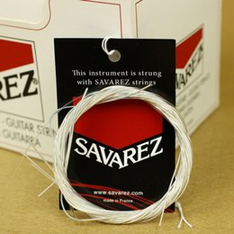 Wholesale Wholesalers Musical Instruments - wholesale Savarez Classic Guitar Strings Nylon One Set 6 Strings For Classical Guitar Parts Bass Boost Bulk Strings Musical Instruments