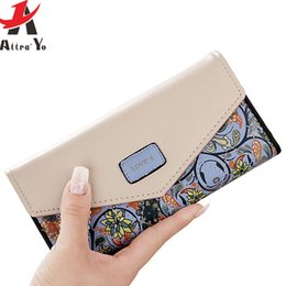 Wholesale Wholesale Women Bag Prices - Wholesale- Attra-Yo women wallet leather bag women's wallet luxury brands dollar price credit card small long style purse printing LM4163ay
