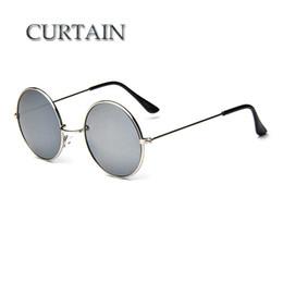 Großhandels-VORHANG-neue Marken-Designer-klassische runde Sonnenbrille-Mann-Weinlese Retro- John Lennon-Glas-Frauen, die Metall Eyewear - LD032 fahren von Fabrikanten