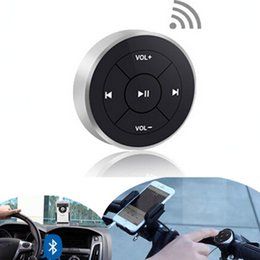 Wholesale Motorcycle Music - Wireless Bluetooth Media Remote button steering wheel remote control for car motorcycle bike handlebar remote control music
