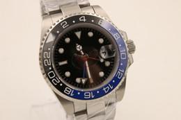 Wholesale Bezel Blue Black Ceramic Watches - store of top seller jason007 luxury brand watches men 116710BLNR half blue & black ceramic bezel watch automatic watch mens dress watches
