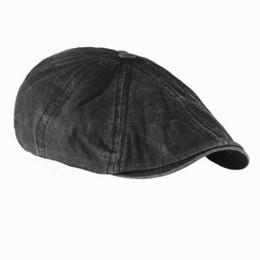 Wholesale Mens Newsboy Caps - Wholesale-Men Male Fashion Gentleman Mens Cotton Bakerboy Beret Flat Cap Newsboy Cabbie Cool Driver Hats Golf Driving Male Models