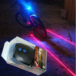 Wholesale Portable Lighting Equipment - Bicycle Laser Taillights LED Laser Light Bicycle Safety Equipment Night Riding Light Bicycle Laser Taillights Bike Lights