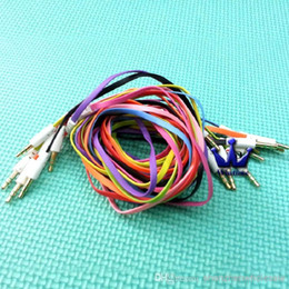 Wholesale Flat Rca Cable - 500pcs lot High quality 3.5mm to 3.5mm Colorful flat type Car Aux audio Cable Extended Audio Auxiliary Cable