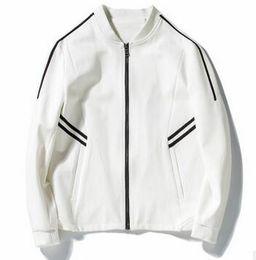 Wholesale European Clothing Men Jacket - M~3XL! 2017 New Men's clothing The winter classic European style jacket all-match minimalist black and white stripes