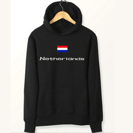 Wholesale Black Flag Sweatshirt - Netherlands flag hoodies Country Holland name sweat shirts Fleece clothing Pullover coat Outdoor sport jacket Brushed sweatshirts