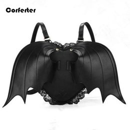 Wholesale Backpack Bat Bags - Wholesale- Novelty Bat wing backpack women travel bags mini teen girls school women rucksack female backpacks leisure bags #L16092302