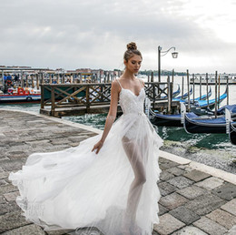 Wholesale Long Spaghetti Strapped Dress Embellished - flowy tulle skirt romantic sexy a line wedding dresses 2018 julie vino bridal spagetti strap sweetheart neckline heavily embellished bodice