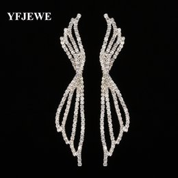Wholesale Swa Silver - YFJEWE Women Long Earrings Christmas Gifts Bijoux Genuine SWA Elements Austrian Crystal Earring Fashion Wedding Jewelry #E431