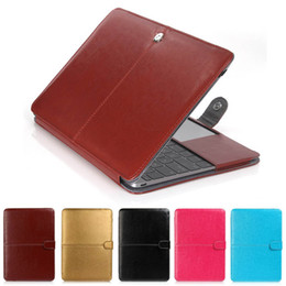 Wholesale Apple Notebooks Laptops - Fashion PU Leather Laptop Case For Apple Macbook Pro Air Retina 11 12 13 15 inch Ultrabook Notebook Cover bag