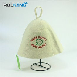 Wholesale Shower Head Cap - Wholesale- 100% wool bath caps Shower caps bath room using head circumference size 70cm