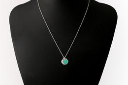Unisex halsketten online-Silber überzogene Dame Herz Halskette rosa blau Emaille Liebe Anhänger Kette Zubehör