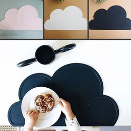 Wholesale wholesale dining tables - Fashion 1Pcs Silicone Cloud Shape Insulation Kitchen Placemat Cute Kids Placemat Pad Dining Table Mat Coaster Hot Sell 7 tt J