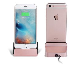 Wholesale Iphone 5s Dock Station - Good quality Charger Docking Stand Station Cradle Charging Sync Dock fashion design for iPhone 6 6S 6Plus 5S 5 5C 5se 7 7s free shipping