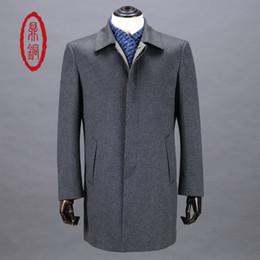 0fcd4002e23e Großhandels-DINGTONG 2017 Marken-Kleidungs-Mens-Wollmantel-langer Mantel- Mens-Kaschmirmantel-hochwertige männliche Winter-Frühlings-helle graue  Mantel- ...